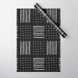 Mud cloth in black and white Wrapping Paper