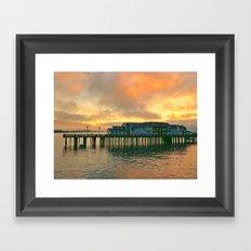 Sunrise Pier  Framed Art Print