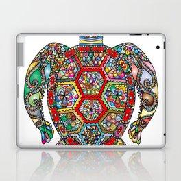 Colorful Sea Turtle Abstract Mandala Laptop & iPad Skin