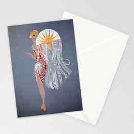 """1920's Art Deco Design """"The Flapper"""" Stationery Cards"""