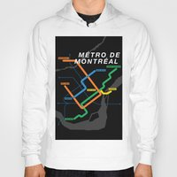 montreal Hoodies featuring Montreal Metro by Coconuts & Shrimps