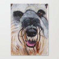 schnauzer Canvas Prints featuring Schnauzer by Doggyshop