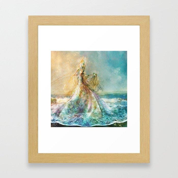 Shell Maiden Framed Art Print