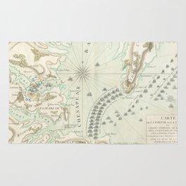 Vintage Map of The Battle of Yorktown (1781) Rug