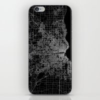 milwaukee iPhone & iPod Skins featuring milwaukee map by Line Line Lines