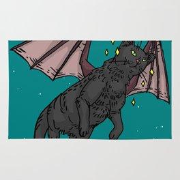 Bat Cat in Space Rug