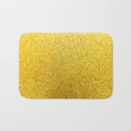 Sunshine Glittery Golden Sparkle Bath Mat