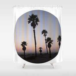 Summer in a Circle Shower Curtain