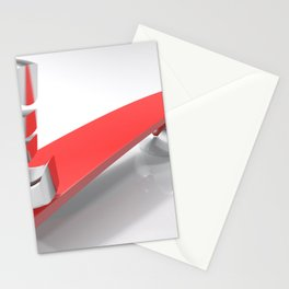 Euro and Dollar symbols at opposite sides of a balanced plane Stationery Cards