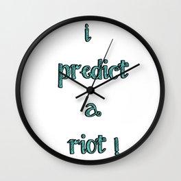 riot! Wall Clock