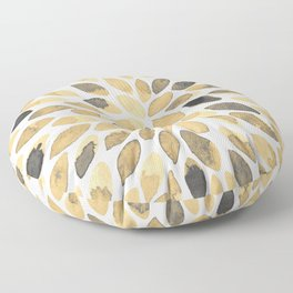 Watercolor brush strokes - neutral Floor Pillow