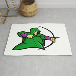 Medieval Archer Mascot Rug