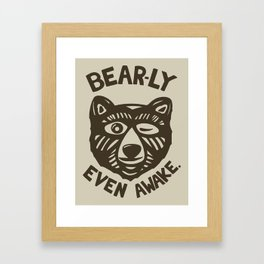HI(BEAR)NATE Framed Art Print
