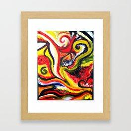 Golden Spirals Framed Art Print