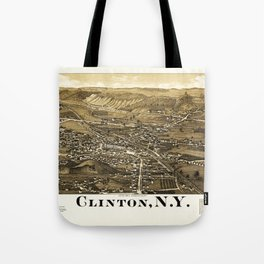 Aerial View of Clinton, New York (1885) Tote Bag