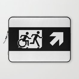 Wheelchair Disabled Exit Sign, with Accessible Means of Egress Icon Laptop Sleeve