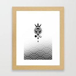 SamGen Logo - White Framed Art Print