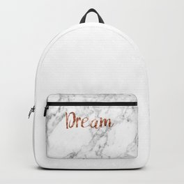 Rose gold marble dream Backpack