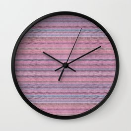 Pastel Pink Knitted Sweater Look Wall Clock
