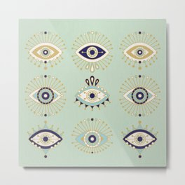 Evil Eye Collection Metal Print