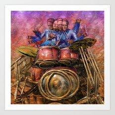 Drum solo Art Print