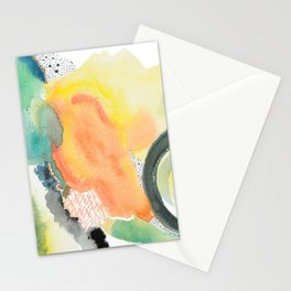 Summer Storm Abstract Stationery Cards