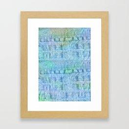 aztec by the ocean Framed Art Print