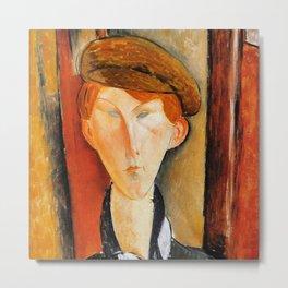 "Amedeo Modigliani ""Young Man with Cap"" Metal Print"