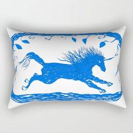 Blue Unicorn 02 Rectangular Pillow