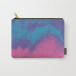 Pink Blue Abstract Glitch Texture Carry-All Pouch