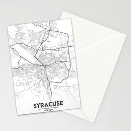 Minimal City Maps - Map Of Syracuse, New York, United States Stationery Cards