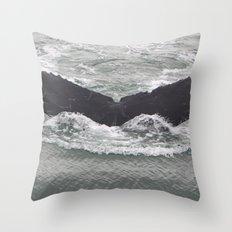 Butterfly of the Ocean Throw Pillow