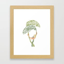 Monstera Deliciosa Framed Art Print