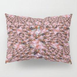 Red Fractal Lace Pillow Sham