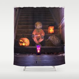 Halloween Rules Enforcer Shower Curtain