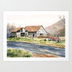 Kentucky Tobacco Barn Art Print