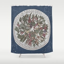 Seasonal Planting Calendar Shower Curtain