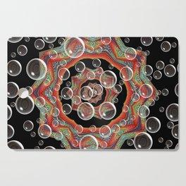 Black Orange Bubbles Cutting Board