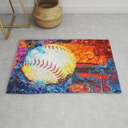 Colorful Baseball Art Rug