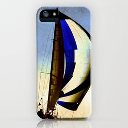 sailboat sailing at the race iPhone Case