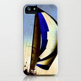 sailboat sailing at the race iPhone Case