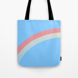 rainbow stripe 10 Tote Bag