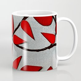Red Autumn Leaves over Dark Skies Coffee Mug