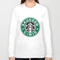 starbucks Long Sleeve T-shirts featuring Starbucks C MID by Rainer Hilland