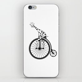 Giraffe Riding A Penny-Farthing Bicycle iPhone Skin