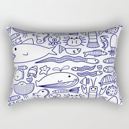 Lines Under the Sea Rectangular Pillow