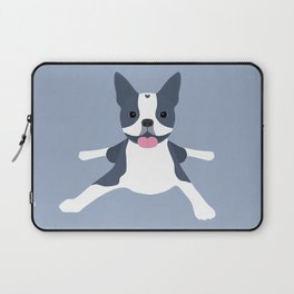 blue boston terrier Laptop Sleeve