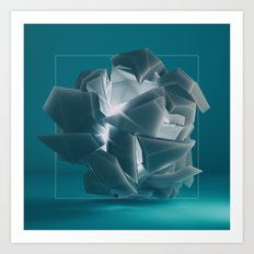 Fragmented vision Art Print