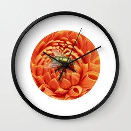 little fly macro XIV Wall Clock