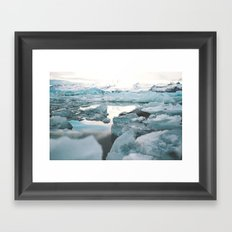 Iceland Glacier Lagoon | Jökulsárlón Framed Art Print